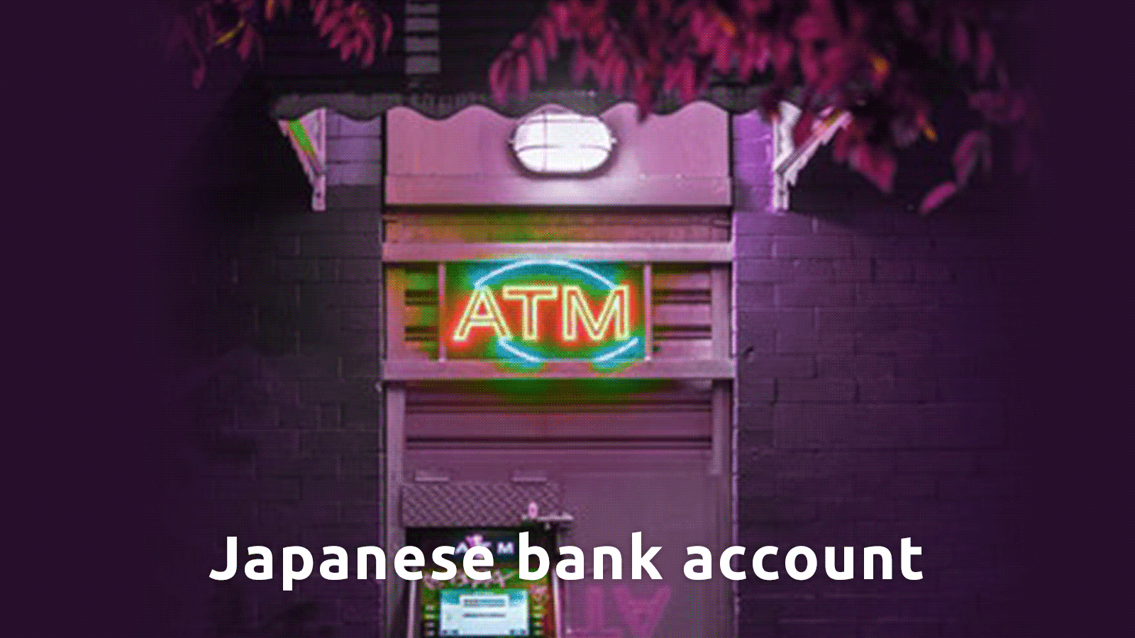 japanese bank acount